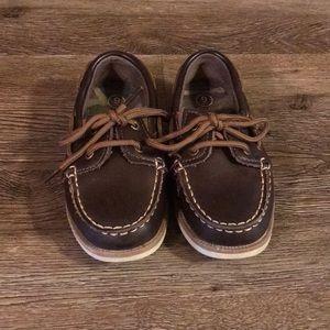 Cherokee Brown Boat Shoes sz 9